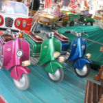 3 Bikes auf dem Karussell